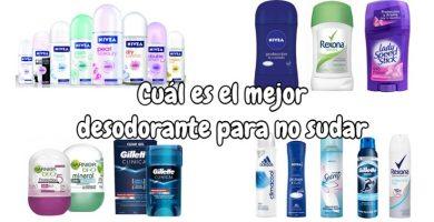 Cuál es el mejor desodorante para no sudar