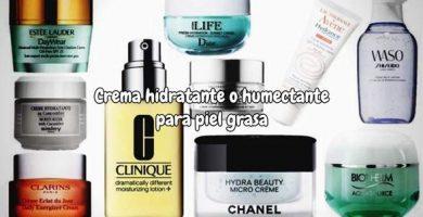 Crema hidratante o humectante para piel grasa