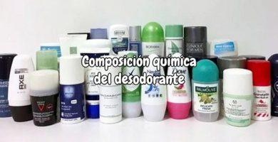 Desodorante composición química