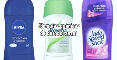 Fórmulas químicas de desodorantes