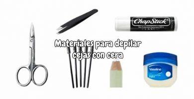 Materiales para depilar cejas con cera