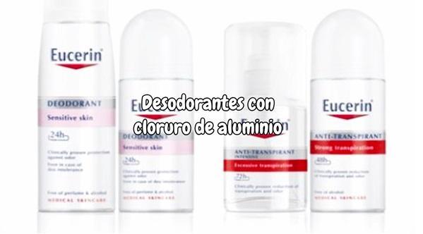 Desodorantes con cloruro de aluminio