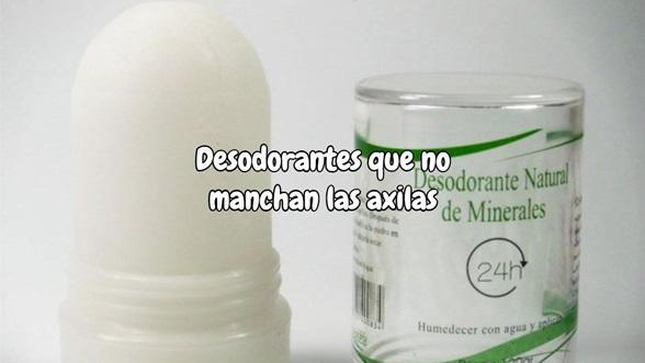 Desodorantes que no manchan las axilas