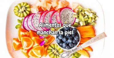 Alimentos que manchan la piel