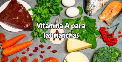 Vitamina A para las manchas