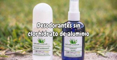 Desodorantes sin clorhidrato de aluminio